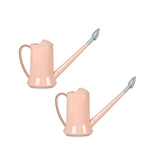 YYYUE Licht PP Gieter, mode lichte vaste kleur halfopen 2L planten bloemen-irrigatie tool, met afneembare sproeikop (twee personen in één set), roze