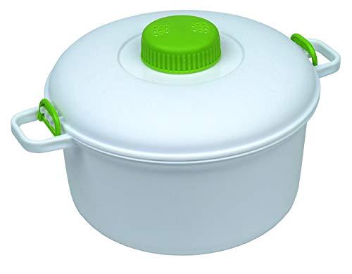 Microwave it Olla a presión, color blanco, 27 x 21 x 15 cm PP363