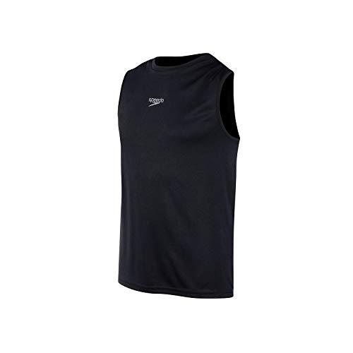 Speedo Camiseta Sem Manga Interlock Masculino Preto G