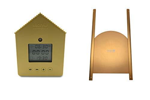 titan Incubators Ouvre-porte de poulailler avec capteur de luminosité et minuterie PLUS porte métallique Elite