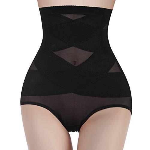 Gotoly Women Butt Lifter Shapewear Hi-Waist Panty Double Tummy Control Knickers Waist Trainer Body Shaper (Black, Small)