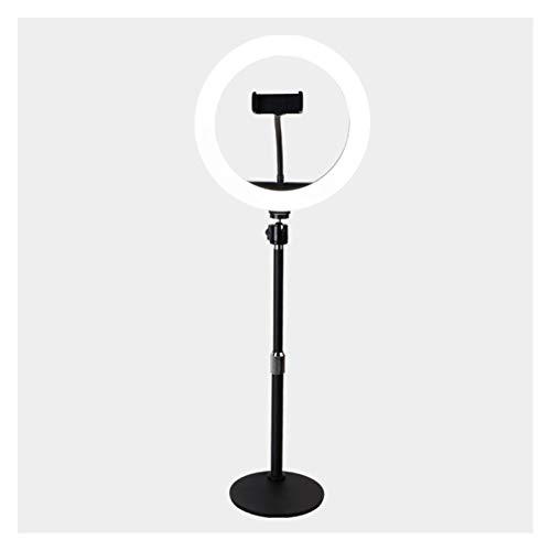 WYHM Escritorio Luz de Anillo de 10', Luz de Escritorio Regulable con Soporte de Teléfono de Metal, Luz de Círculo LED para Maquillaje de Transmisión en Vivo Universal (tamaño : 10in)