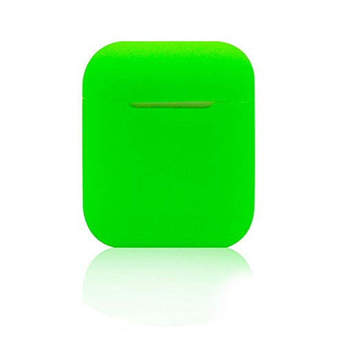 Soft Silicone Case Earphones for Apple Airpods case Bluetooth Wireless Earphone Protective Cover Box for Air Pods Ear Pods Bag,Green