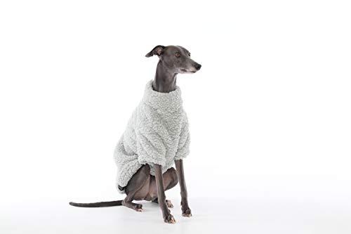 The Trendy Whippet Pijama de Forro Polar Suave Gris con diseño de Galgo Italiano, Azabache, Lurcher, Galgo, Saluki Sighthound.