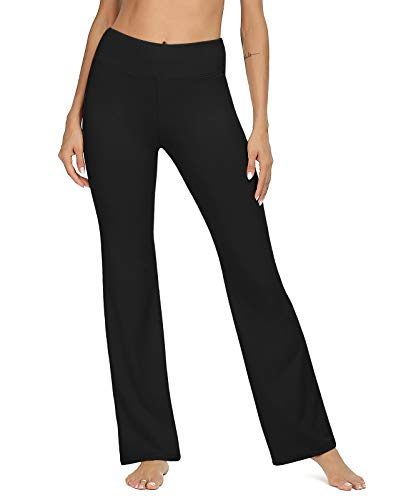 VIISHOW Boot-Cut Yoga Pants High Waist Black Workout Leggings for Women(Black,X-Small) Massachusetts