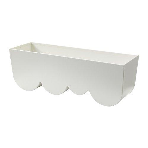 IKEA AGGPLANTA プランター ホワイト 35×11cm 80289498