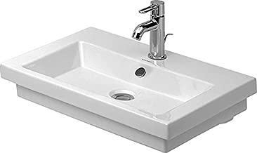 Duravit 04916000251 2nd Floor Washbasin In Stainless Steel Matte Fin