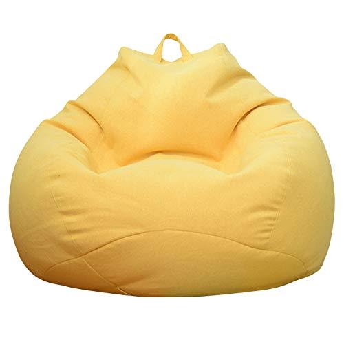 Ghopy – Funda de puf de pera (sin relleno). Puf de salón, para gran sofá, gran sillón de salón, para interior, exterior, azul, para adultos y niños XXL (100 x 120 cm)