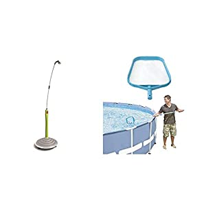 GF GARDEN, Doccia Solare Sunny Style, Doccia da Giardino, Piscina, per Esterno Colore Verde Lime & Intex 29050 Retina Raccogli Foglie, Blu, 41.59 x 29.53 x 2.54 cm