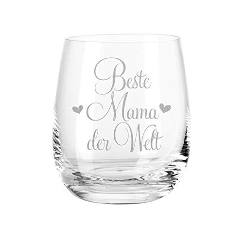 Leonardo Bougie chauffe-plat et photophore avec gravure « Für die Beste Mama der Welt » – Cadeau pour maman – Cadeau de fête des mères – Cadeau d'anniversaire pour maman