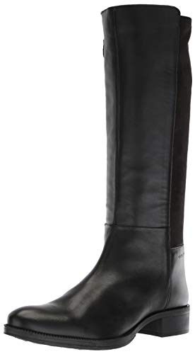 Geox Damen Laceyin 2 Tall Zip Riding Boot Kniehoher Stiefel, schwarz, 40.5 EU