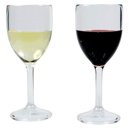 Viva Haushaltswaren 2 unzerbrechliche Weingläser aus hochwertigem Kunststoff (Polycabonat) ca. 300 ml / 35665