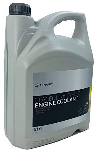 Renault Kühlmittel Glaceol RX Typ D Gelbes Kühlmittel Frostschutzmittel, 5 Liter