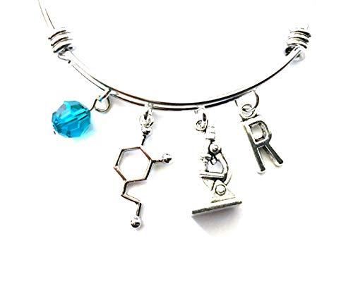 Scientist Themed Personalized Bangle Bracelet
