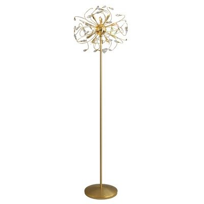 Kolarz vloerlamp Twister 24 karaat goud handwerk, Made in Italy, Made with Swarovski ELEMENTS