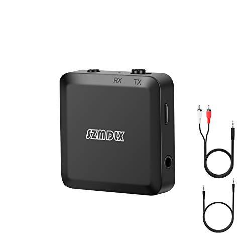 Bluetooth Adapter, Transmitter und Empfänger 2 in 1, Bluetooth 5.0 Audioadapter Sender Receiver mit 3,5mm digitales Audiokabel für PC TV Kopfhörer Autoradio für Zuhause