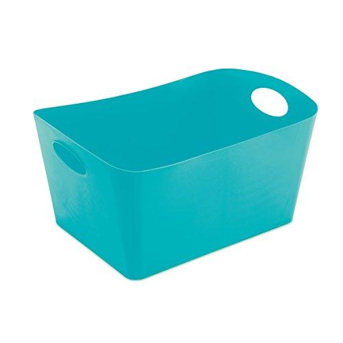 koziol Aufbewahrungsbox 15 L Boxxx L,  Kunststoff, solid türkis, 31 x 48 x 23,7 cm