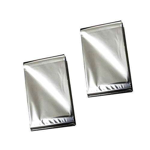 N-A Notfalldecke, 2 Stück Sonnenschutz Camping Teppich (Silber)