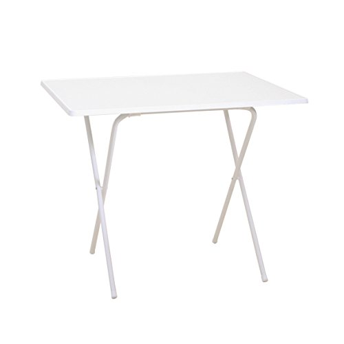 Scherentisch weiß klappbar als Campingtisch, Gartentisch ca. 60 x 80 x 64 - witterungsbeständige Klapptisch als Beistelltisch