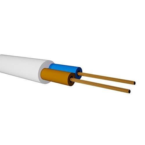 OEM Bobina 100m Manguera Electrica Blanca 2x0,75mm 300/500V
