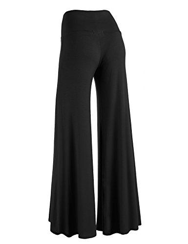 MBJ WB750 Womens Chic Palazzo Lounge Pants L Black
