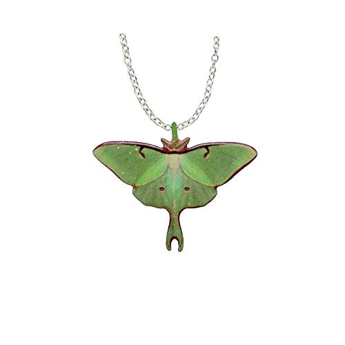 Luna Moth Necklace by d'Ears Stainless Steel 18' Chain