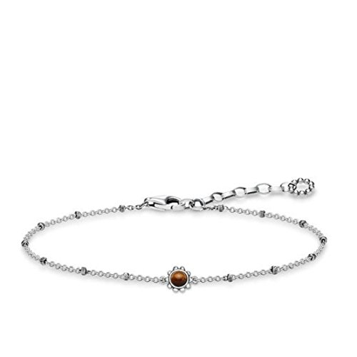 Thomas Sabo Damen-Armband Ethno Braun 925 Sterling Silber geschwärzt Braun A1670-826-2-L19v