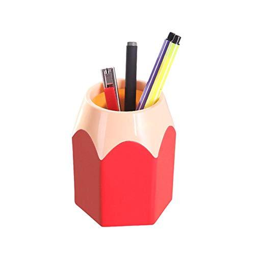 Houer 1PCS Mini Pot Pot Pot Vaas Briefpapier Gift Cup Make Borstel Container Box Bureau Organizer Kawai Girls, Rood