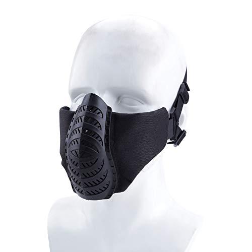 FOJMAI Máscara táctica de media máscara Paintball Airsoft Halloween CS juego de motocicleta Cosplay