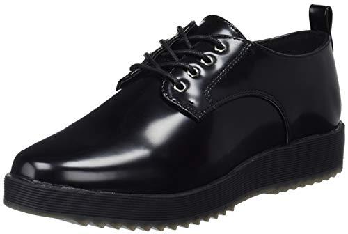 Conguitos Blucher Charol con Cordones, Zapatos Derby para Niñas, Negro (Negro 20), 33 EU