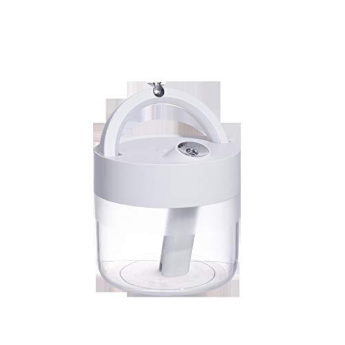 Yuxahiugjsq Ultrasonidos humidificador de vapor frío, personal de escritorio humidificador de viaje en coche Oficina dormitorio principal, Chargable, operado 3600 mAh de la batería, 1L, 2 Modos de nie