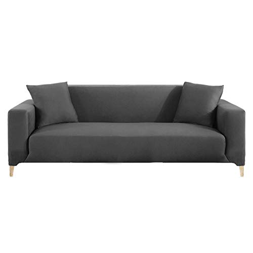 HXTSWGS Gruesa Protección de Muebles,Elastic Sofa Cover for Living Room, Sectional Couch Cover, Armchair Slipcover L Shaped Corner, Sofa Cover-Grey_2 Seater 145-185cm