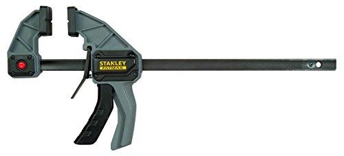Stanley Fmht0-83235 Serre-Joint L 300 Gamme FatMax - Travaux De Précision - Rainure En V Pour Maintien Des Tubes - Rail En Acier - Corps En Nylon Renforcé - Fonction Écarteur