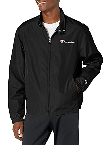 Champion Herren Rally Jacket Jacke, schwarz, Medium