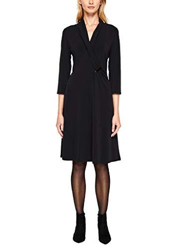 s.Oliver BLACK LABEL Damen 11.910.82.3167 Kleid, Schwarz (Forever Black 9999), (Herstellergröße: 38)