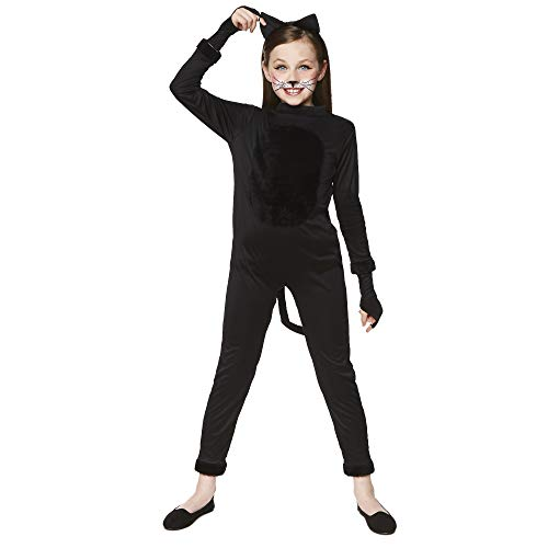 Black Costume Party Accessory for Halloween Womens Cat Suit Costume