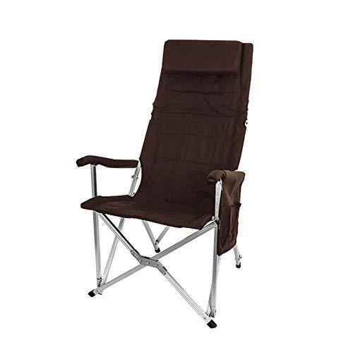 BSDBDF Chaises de Camping Pliantes ultralégères et Respirantes avec Sac de Transport pour extérieur, pêche, Festival, Plage Size Marron