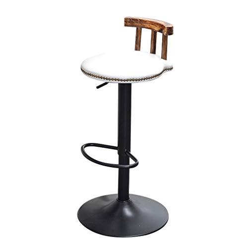 BTPDIAN Amerikaanse retro barstoel|koffiestoel|barstoel|tillen roterende barstoel|stoel hoge kruk|balie Kleur: wit