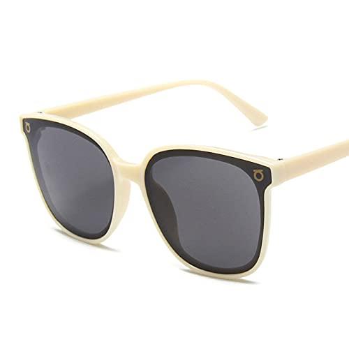 MIMITU Gafas de sol de moda para mujer, gafas de sol de gran tamaño, gafas de solvintage para mujer, C5Beige