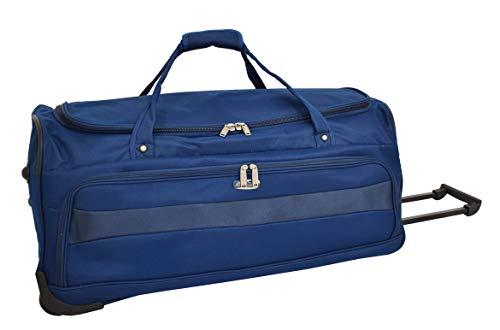 Large Travel Duffle 28' Wheeled Holdall Soft Lightweight Luggage Trolley Bag - Marco (Blue)