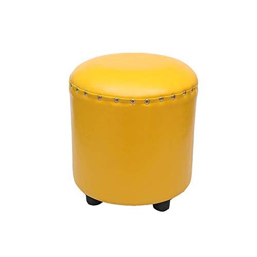 LUZEO Style Home Sitzbank Hocker Polsterhocker Sitzhocker Schminkhocker Holzhocker Für Schminktisch Mit Schminktischhocker Klavierhocker Belastbarkeit,Gelb