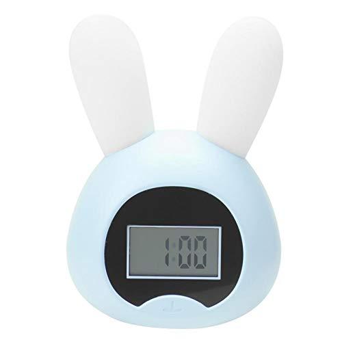 Folany Reloj Ligero, cómodo Reloj Multifuncional, para el hogar(Cute Rabbit-Blue)