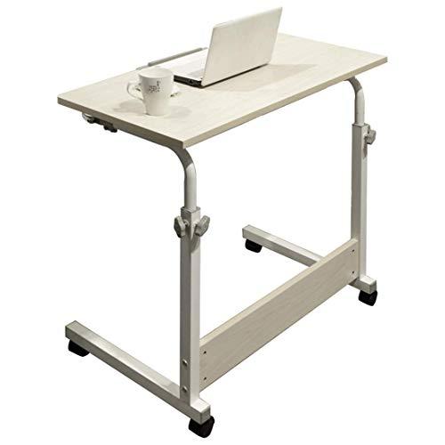 Betttisch, höhenverstellbar, leicht zu bewegen/zu verstauen, 80 cm breit, Arbeitstisch, Höhe für Bett, Büro, Schreibtisch, Laptop, Sofa. (Farbe: B)