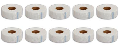10 Rollen Glasfaserband / Gitterband selbstklebend 48 mm x 90 m = 900 m - Bewehrungsband / Armierungsgewebe / Fugenband