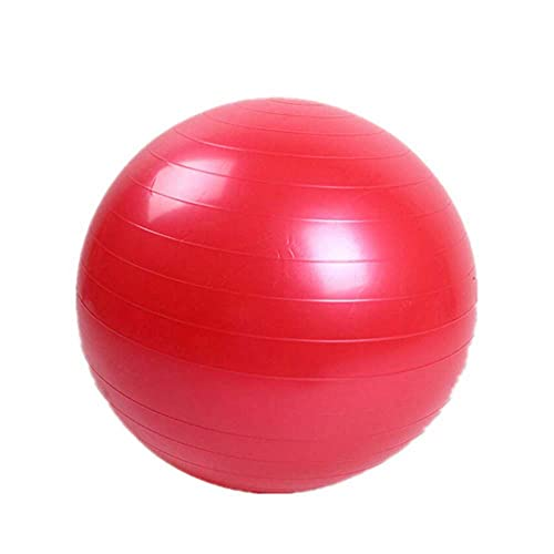 Bola de ejercicio físico engrosada, bola antiestática deportiva antideslizante, silla de pelota de yoga para entrenamiento, fitness y entrenamiento, calidad profesional anti-explosión, púrpura (55 cm)
