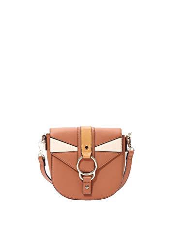 s.Oliver RED LABEL Damen City Bag in grafischer Optik hazelnut brown 1