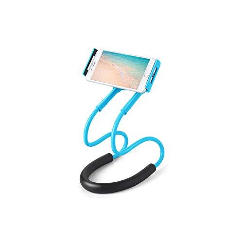 Gresunny Soporte telefono movil Cuello Cisne Universal Soporte para teléfono móvil Celular para Colgar en el Cuello 360 Grados de rotación Flexible Soporte Perezoso para Smartphone móvil Table
