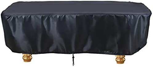 Saking 7 / 8 / 9 ft Billiard Pool Table Covers with Drawstring (7FT: 89x46x32in, Black)