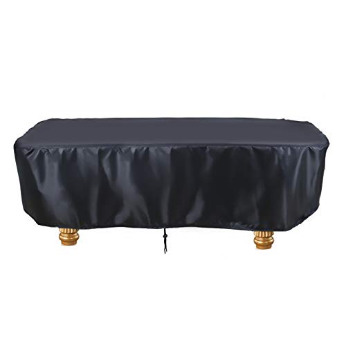 Saking 7   8   9 ft Billiard Pool Table Covers with Drawstring (8FT: 102x53x32in, Black)