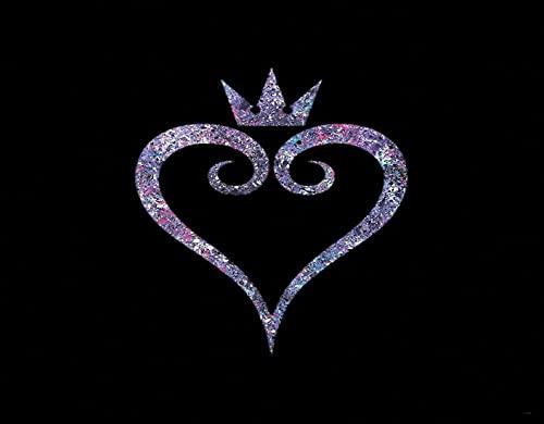 DIY Kits de Pintura de Diamante 5D para Niños y Adultos,Corona de amor,Arte de la Imagen para la Decor de la Pared del Hogar Regalo,16' x 12'